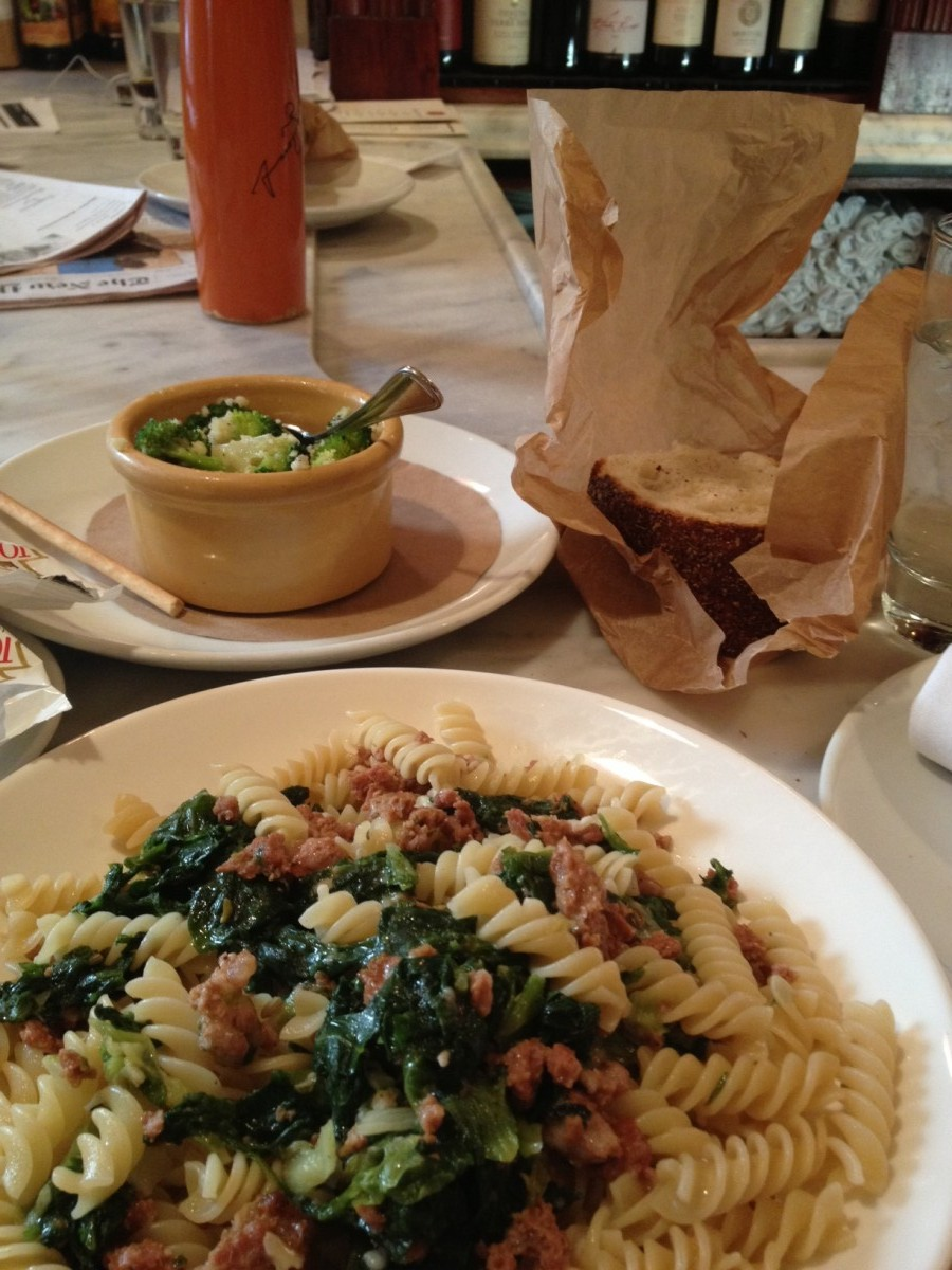 FUSILLI WITH ALL THE FIXINS AT OTTO